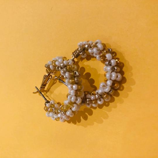 Free People Gold and White Beaded Image 2