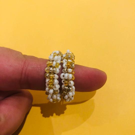 Free People Gold and White Beaded Image 3