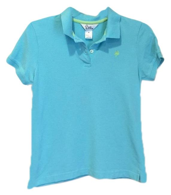 Preload https://img-static.tradesy.com/item/25514941/lilly-pulitzer-light-tealturquoise-women-s-palm-tree-polo-shirt-button-down-top-size-8-m-0-1-650-650.jpg