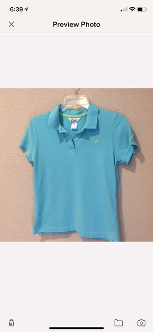 Lilly Pulitzer Button Down Shirt light teal/turquoise Image 1
