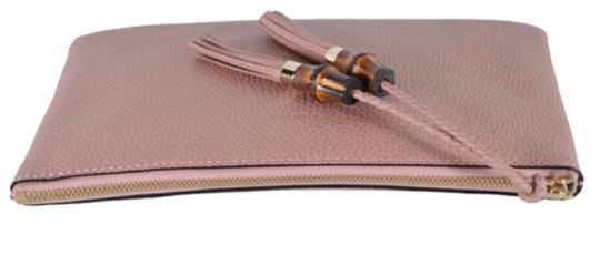 Gucci Bamboo Designer Leather pink Clutch Image 1