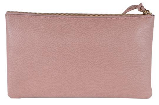Gucci Bamboo Designer Leather pink Clutch Image 4