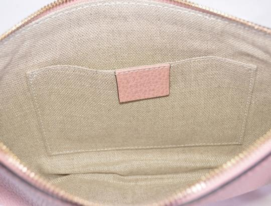 Gucci Bamboo Designer Leather pink Clutch Image 5