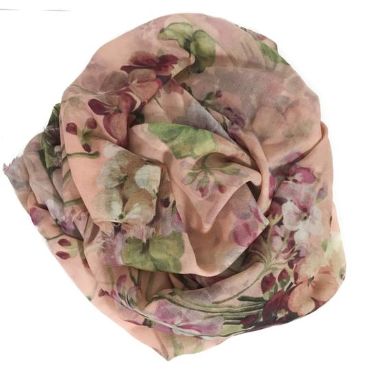 Gucci NEW GUCCI 406227 Blooms Wool Cashmere Stole Scarf Image 4