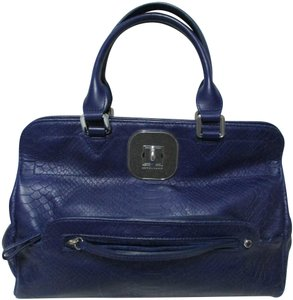 Longchamp Gatsby Satchel Convertible Leather Tote in blue