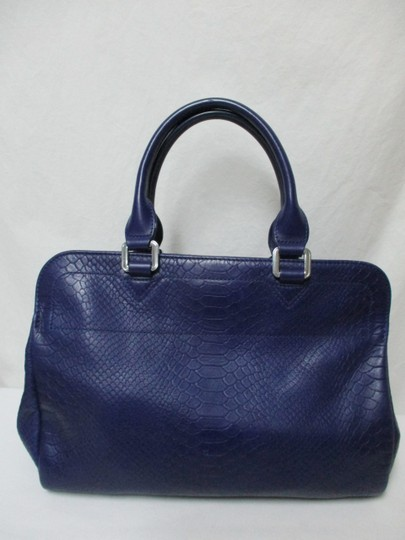 Longchamp Gatsby Satchel Convertible Leather Tote in blue Image 1