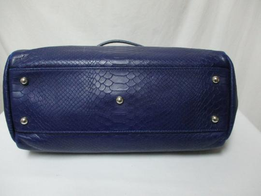 Longchamp Gatsby Satchel Convertible Leather Tote in blue Image 3