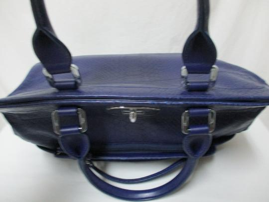 Longchamp Gatsby Satchel Convertible Leather Tote in blue Image 4