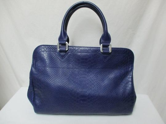 Longchamp Gatsby Satchel Convertible Leather Tote in blue Image 5