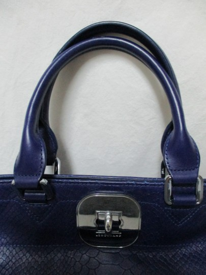 Longchamp Gatsby Satchel Convertible Leather Tote in blue Image 8