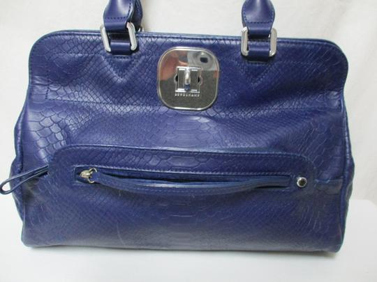 Longchamp Gatsby Satchel Convertible Leather Tote in blue Image 9