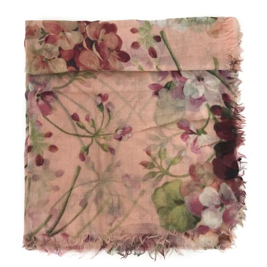 Gucci NEW GUCCI 406227 Blooms Wool Cashmere Scarf Image 11
