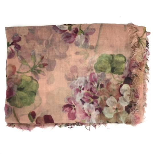 Gucci NEW GUCCI 406227 Blooms Wool Cashmere Scarf Image 2