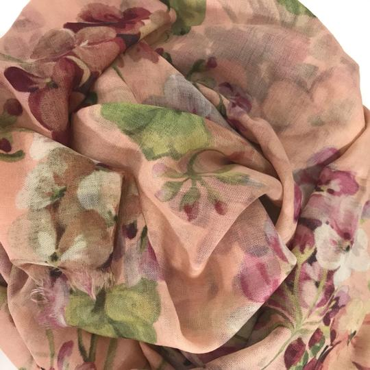 Gucci NEW GUCCI 406227 Blooms Wool Cashmere Scarf Image 6