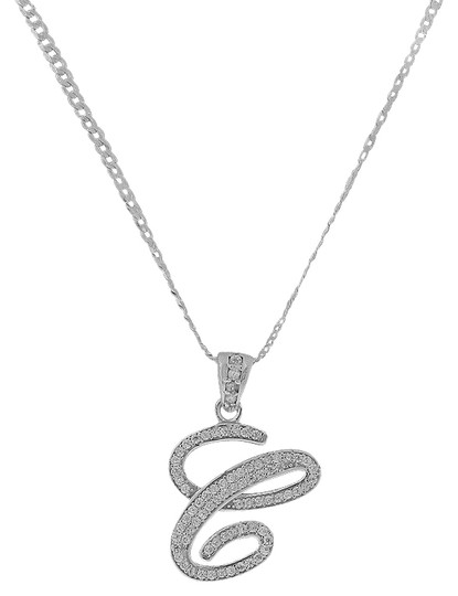Preload https://img-static.tradesy.com/item/25515154/letter-c-cursive-initial-cz-pendant-925-sterling-silver-necklace-0-1-540-540.jpg