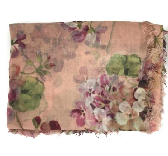 Gucci NEW GUCCI 406227 Blooms Wool Cashmere Stole Scarf Image 2