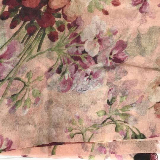 Gucci NEW GUCCI 406227 Blooms Wool Cashmere Stole Scarf Image 7