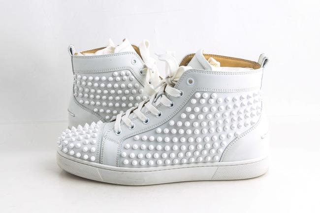 Item - White Louis Flat Calf/Spikes Shoes