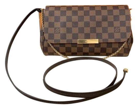 Preload https://item1.tradesy.com/images/louis-vuitton-favorite-box-wow-2019-new-sold-out-mm-bow-dustbag-tag-strap-brown-damier-ebene-canvas--25515250-0-5.jpg?width=440&height=440