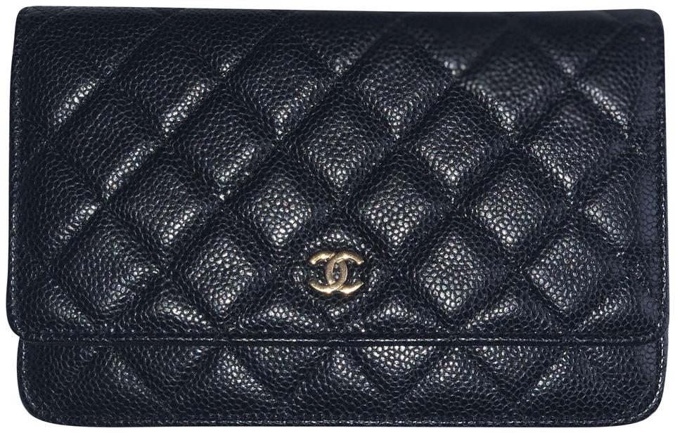 376f2df5e0b Chanel Wallet on Chain Caviar Gold Hardware Black Leather Cross Body Bag