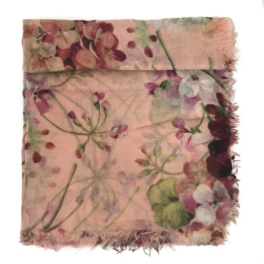 Gucci NEW GUCCI 406227 Blooms Wool Cashmere Stole Scarf Image 6