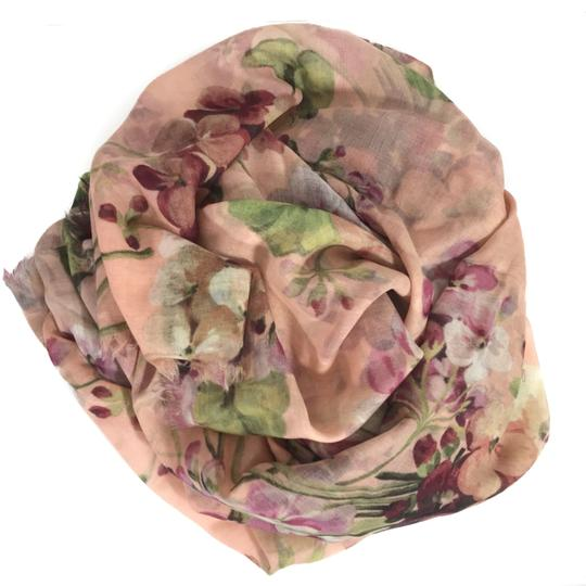 Gucci NEW GUCCI 406227 Blooms Wool Cashmere Stole Scarf Image 9