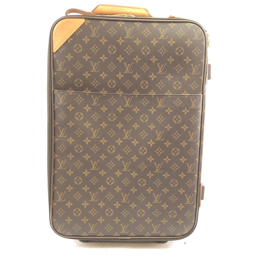 17f988b28 Louis Vuitton #30365 with Garment Pegase 55 Roller Luggage Suitcase Carry  On Monogram Coated Canvas Weekend/Travel Bag
