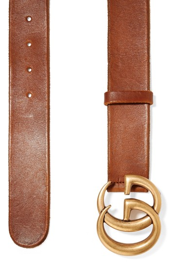 Gucci GG LOGO LEATHER BELT SIZE 75 Image 1