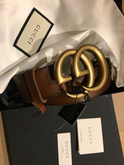 Gucci GG LOGO LEATHER BELT SIZE 75 Image 3