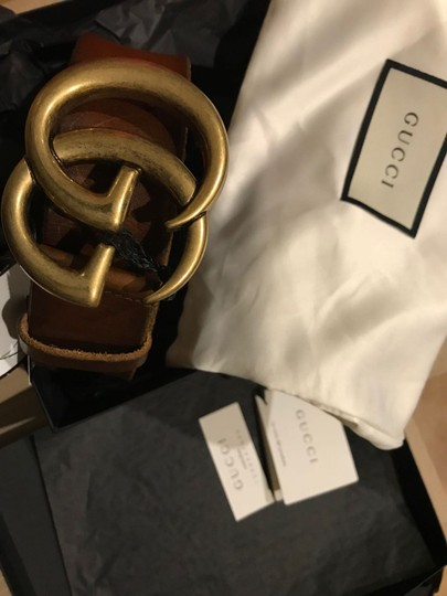 Gucci GG LOGO LEATHER BELT SIZE 75 Image 4