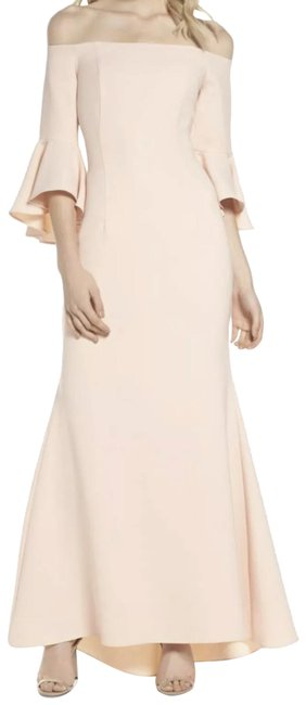 Preload https://img-static.tradesy.com/item/25515533/vince-camuto-blush-bell-sleeves-off-the-shoulder-crepe-gown-long-formal-dress-size-10-m-0-2-650-650.jpg