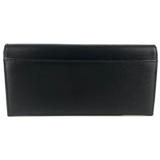 Gucci GUCCI Continental Shangai Black Leather Flap Wallet with Interlocking Image 2
