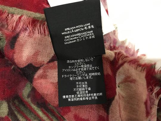 Gucci NEW GUCCI 406227 Blooms Wool Cashmere Stole Scarf, Red Image 11