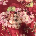 Gucci NEW GUCCI 406227 Blooms Wool Cashmere Stole Scarf, Red Image 6