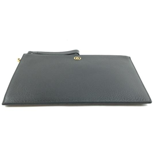 Gucci Marmont Leather Clutch Wristlet in Black Image 4