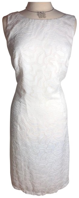 Preload https://img-static.tradesy.com/item/25515563/whitelight-beige-whitehint-of-textured-lined-sleeveless-mid-length-workoffice-dress-size-16-xl-plus-0-1-650-650.jpg