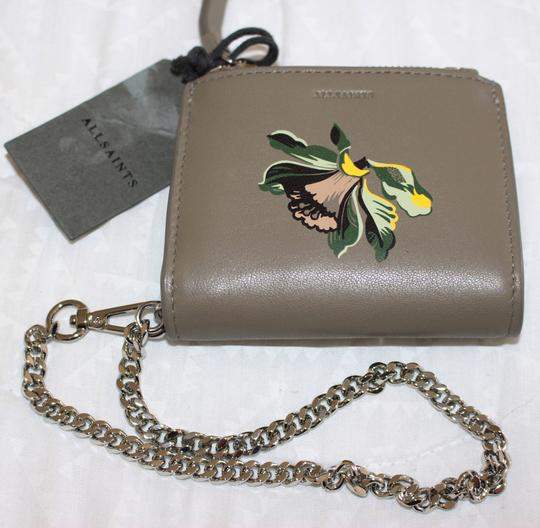 AllSaints All Saints FLORA Leather Bifold Wallet (Wristslet) on Chain Image 1
