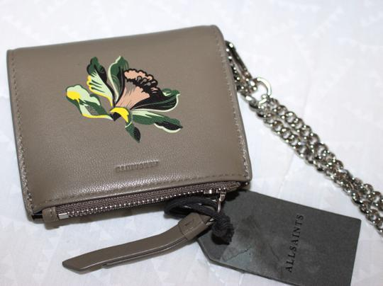 AllSaints All Saints FLORA Leather Bifold Wallet (Wristslet) on Chain Image 3