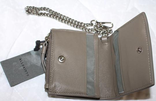 AllSaints All Saints FLORA Leather Bifold Wallet (Wristslet) on Chain Image 8