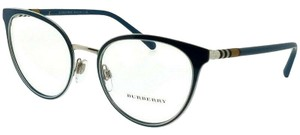 Burberry BE1324-1264-52 Cat Eye Women's Blue Frame Clear Lens Eyeglasses