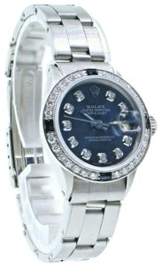 Rolex Ladies ROLEX Oyster Perpetual Datejust Diamond Dial and Bezel Blue Dia