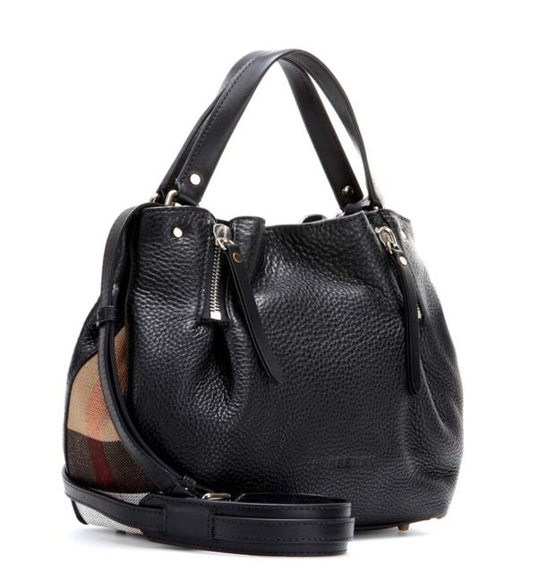 Item - Maidstone Small Grained Check Black Leather Cross Body Bag