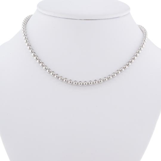 Cartier Diamond Tennis Ladies Necklace Bead Bezels Style 4.26Cttw Image 2