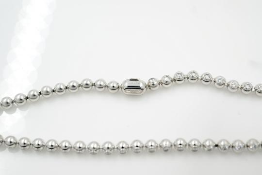 Cartier Diamond Tennis Ladies Necklace Bead Bezels Style 4.26Cttw Image 4