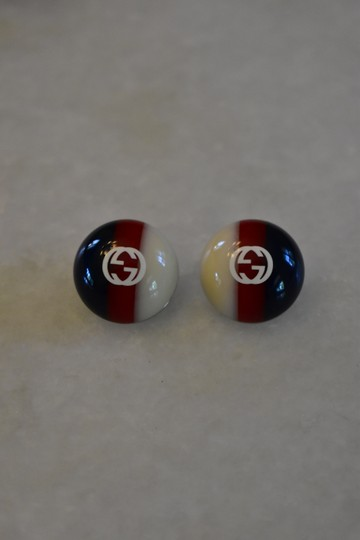 Gucci Gucci web studs Silver-tone and enamel earrings Image 1