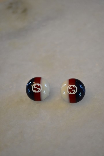 Gucci Gucci web studs Silver-tone and enamel earrings Image 2