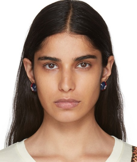Gucci Gucci web studs Silver-tone and enamel earrings Image 8
