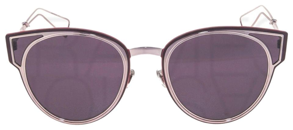 2b6c15440 Dior CHRISTIAN DIOR SCULPT Lilac Mirrored Red Cat Eye Metal Sunglasses  Image 0 ...