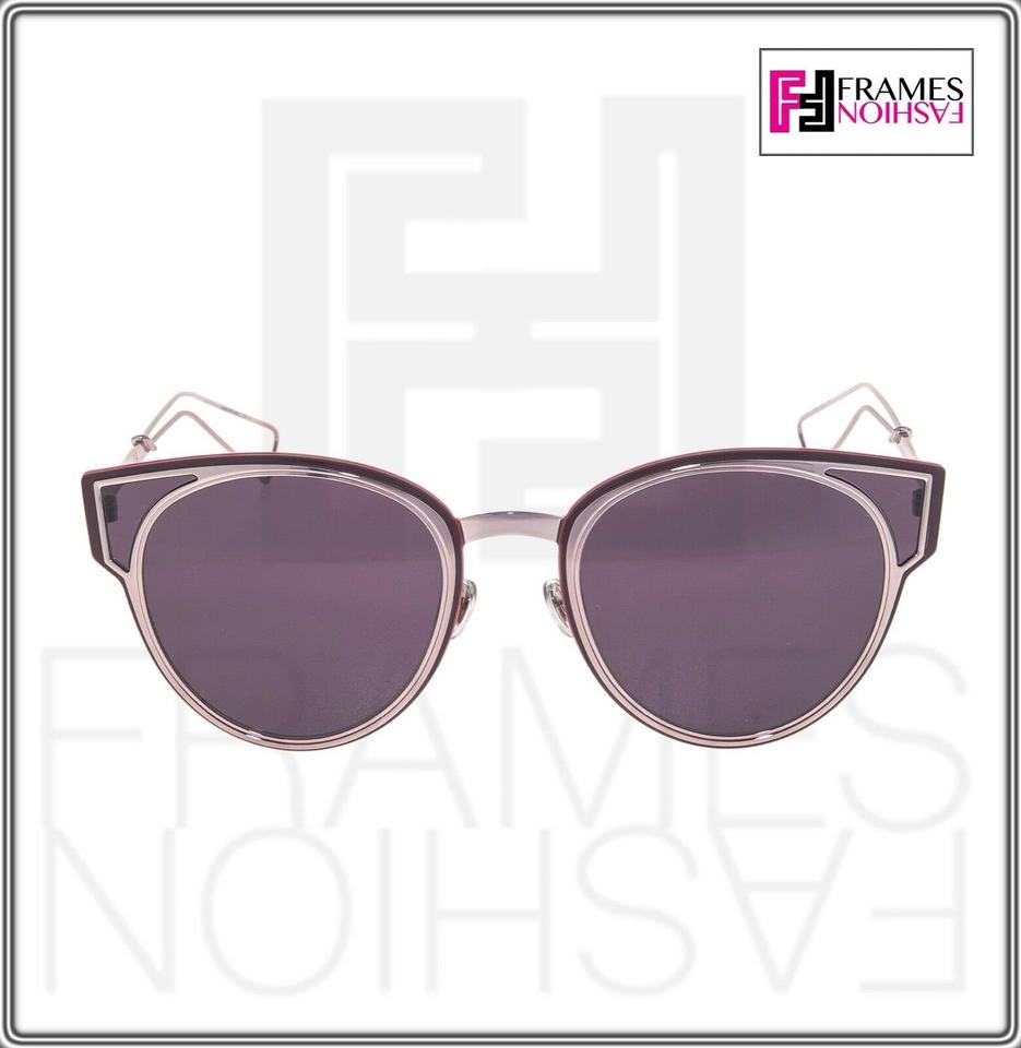 f8ddc8cb0 Dior CHRISTIAN DIOR SCULPT Lilac Mirrored Red Cat Eye Metal Sunglasses  Image 4. 12345