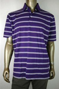 Polo Ralph Lauren Purple/White Jersey XL Men's Purple/White Striped 0404045nl Shirt